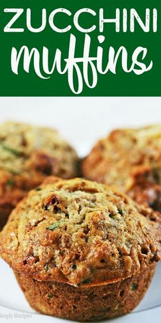 The BEST zucchini bread muffins EVER Moist sweet packed with shredded zucchini walnuts dried cranberries and spiced with vanilla cinnamon and nutmeg On Zucchini Bread Muffins, Best Zucchini Bread, Zucchini Muffin Recipes, Healthy Muffins, Healthy Muffin Recipes, Shredded Zucchini Recipes, Best Muffin Recipe, Cheesy Zucchini Bake, Best Zucchini Recipes