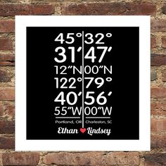 This is so sweet... Long Distance Love Personalized City Coordinates by DefineDesign11