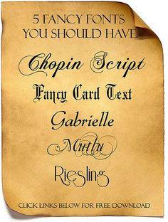 ...nice fonts--