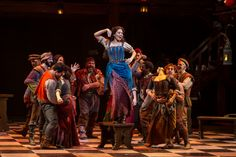 THE HUNCHBACK OF NOTRE DAME at Paper Mill Playhouse Photos by Jerry Dalia -- Ciara Renée as Esmeralda and the cast of Hunchback
