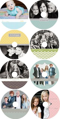 8 Photographer CD  templates - Just the CD designs via Etsy.