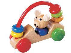 [Gogo Toys ゴーゴートーイズ]くまさん 安全性の高いドイツ製の水性塗料した、赤ちゃんの為の木製玩具です。