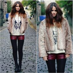 tights + shorts = my favorite.. #style / #fashion / #tights