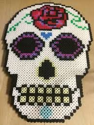 Image result for perler bead sugar skull