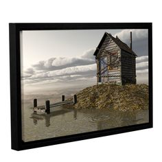Locked Out by Cynthia Decker Gallery-Wrapped Floater-Framed Canvas