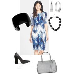 A fashion look from November 2014 featuring Vince Camuto dresses, Faith pumps and DKNY handbags. Browse and shop related looks.