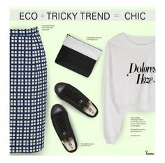 """Eco + Tricky Trend = Chic"" by kurious ❤ liked on Polyvore featuring мода и Ethletic"
