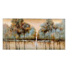 The earth tones, beautiful landscape and soft design of Kirkland's Natural Solitude Canvas Print will have you daydreaming about finding some peace and quiet. Add this art piece to your bedroom or living room to create a calming atmosphere.