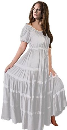 Lotustraders Mexican Peasant Maxi Dress G318 at Amazon Women s Clothing  store  069d3c8b0