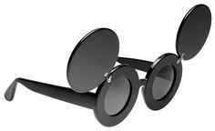 94bfede88751 Linda Farrow x Jeremy Scott Mickey Mouse Round Sunglasses (Lady Gaga