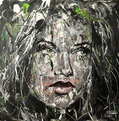 Lucile Callegari / STORM / Acrylique et fusain sur toile, 80x80cm, 2016.
