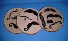 handmade coaster whisker crazy by HomespunPinup on Etsy, $3.25