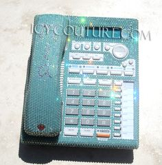 Custom Tiffany Blue Crystal Bling Home Office Desk Phone. Add Your Name, Initials.. or not :)