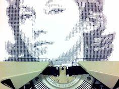 ¡Realmente curiosos! ¡Sí, sí! Nos referimos a los #retratos hechos por Alvaro Franca ¡hechos con una máquina de escribir! ¿Qué os parece?