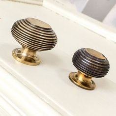Brass Beehive Cabinet Knob