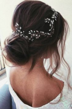 Headpiece Jewelry For Bun Updos Brown #weddinghairstyles ❤ Wise brides know that they can reach perfection only with the right hair jewelry accompanying their hairdos. Are you one of them? Whatever your answer is, you will find some inspiration here! Amazing head piece ideas for bun updo hairstyles, Victorian ideas to pair with curly styles, bohemian looks for casual weddings, and lots of options to wear for wedding and prom are here! ❤ #lovehairstyles #hair #hairstyles #haircuts