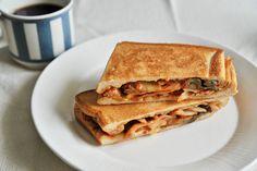 トマトとナスのペンネサンド - tomato and eggplant penne sandwich for the next day of italian dine