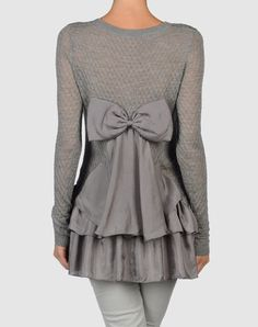 I have to stop with the grey sweaters, but this one is sooooo cute.