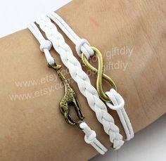 Infinity bracelet giraffe bracelet Best Chosen Giftgift by giftdiy, $3.99