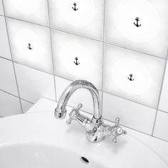 "Fliesenaufkleber 4er Set ""BACKBORD 02"" von BOUBOUKI individual.interior.items auf DaWanda.com"