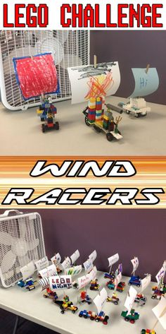 Lego Club Idea for Libraries--Build a car with a sail, and then RACE!!