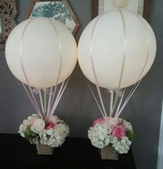 Hot Air Balloon Wedding Centerpiece