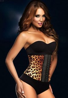 Sexy Leopard Latex Rubber Waist Training Corset $39.95 plus free shipping!