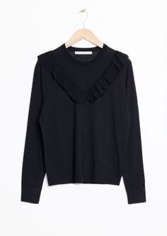 & Other Stories   Merino Wool Frills Knit