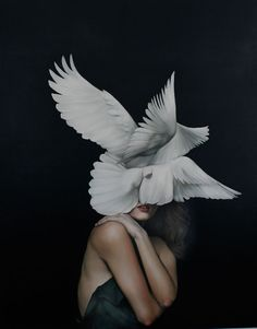 Artist Amy Judd explores the relationship between birds & women in traditional mythologies in her recent series of oil paintings. Judd merges the elegance & lightness of birds w/ the female form.