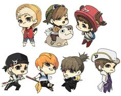 So adorable~! I'm not for sure but from left to right starting from the top I think it's - Zico, Ukwon, Taeil, P.O, Park Kyung, Jaehyo, B Bomb