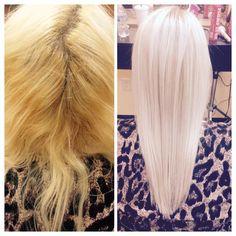frozen blonde. redken. olaplex