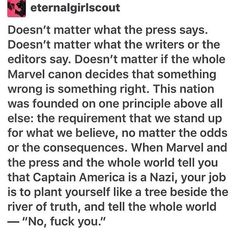 """""""No, sir, even as a Canadian, we seriously deny that we will accept and read this... And coming from a more Tumblr worthy point-- F*CK YOU."""""""