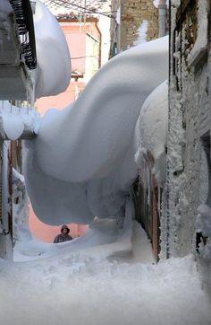 Snowstorm in Italy
