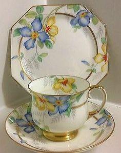 china tea Beautiful Paragon Art Deco Hand P - china Cup And Saucer Set, Tea Cup Saucer, Tea Cups, China Cups And Saucers, Teapots And Cups, Vintage Cups, Vintage China, China Tea Sets, My Cup Of Tea