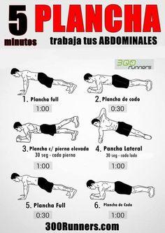 Trabaja tus abdominales con 5 minutos de plancha - Investigación y Desarrollo