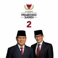 Prabowo-Sandiaga logo. Make Money Photography, Eid Al Fitr, Graphic Design Tips, Presidents, How To Make Money, Singing, Logos, Movie Posters, Movies