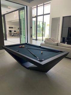 Dining Room Pool Table, Outdoor Pool Table, Custom Pool Tables, Modern Pool Tables, Billard Design, Game Room Bar, Pub Design, Modern Pools, Casa Real