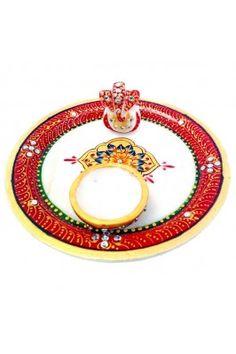 Chitrahandicraft Marble Pooja Thali #navaratrispecial #poojathali