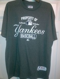 Authentic MLB, New York Yankees, Majestic  Shirt, Size XL. Adult ***NEW*** #Majestic #NewYorkYankees