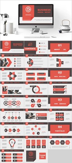 Business infographic : 27 business company report PowerPoint template on Behance Web Design, Slide Design, Design Layouts, Brochure Design, Design Art, Graphic Design, Powerpoint Design Templates, Keynote Template, Booklet Design