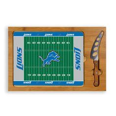 Detroit Lions Football Field Glass Top Cutting Board