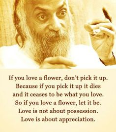 Love is not about possesion