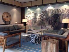 "Ananbô panoramic wallpaper ""Les Pêcheurs de l'Okavango"" - Interior design Interiors International, Kuala Lumpur - Images courtesy of The E&O Group."