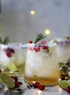 Who doesn't need a good Christmas margarita? Let's start a few weeks early! So a few years ago I made this white Christmas margarita punch which I LOVE. Party Drinks, Cocktail Drinks, Fun Drinks, Yummy Drinks, Cocktail Recipes, Alcoholic Drinks, Beverages, Mixed Drinks, Cider Cocktails