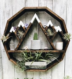 Mountain Circle Shelf, Mountain shelf, circle shelf, moon shelf, essential oil s. Home Crafts, Diy Home Decor, Diy And Crafts, Home Decoration, Woodworking Projects Diy, Diy Wood Projects, Teds Woodworking, Circle Shelf, Circle Circle