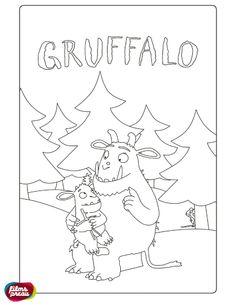 Kleurplaat: Gruffalo