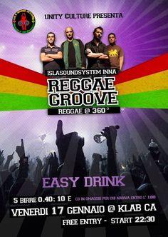 REGGAE GROOVE – K-LAB- CAGLIARI – VENERDI 17 GENNAIO 2014