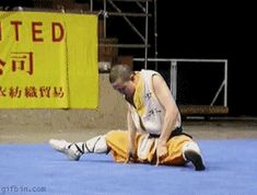 two-finger handstand (gif)