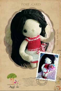 My crochet dolls : Hello I'm Angel!