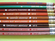 getting my nfl pencils out of the vending machine at school--not sure why i had to have these but there it is!